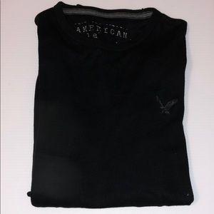AEO Black Crew Neck Long Sleeve Sweater